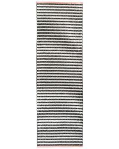 PLASTIC TÆPPE BLACK/WHITE