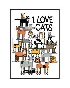 I LOVE CATS PLAKAT